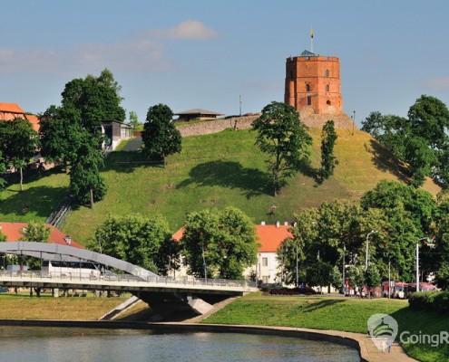 Vilnius, Tower of Gediminas, symbol of Vilnius  Summer